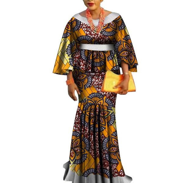 Compre Africa Conjunto De Dos Piezas Para Mujer Moda Dashiki Lace Edge Ropa Africana Bazin Tallas Grandes Ropa De Mujer Para Fiesta Wy3462 A 33 6 Del Bintarealwax Dhgate Com
