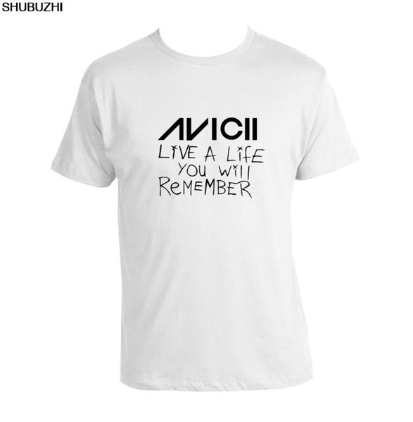 Avicii Live A Life You Will Remember T-Shirt unisex Tee avicii EDM Dance Legend mens brand teeshirt cotton tops for male sbz1148