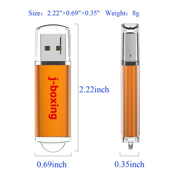 Orange 64GB USB Flash Drive High Speed Rectangle Memory Sticks 64gb Thumb Pen Storage for Computer Laptop Macbook Tablet Flash Pen Drive