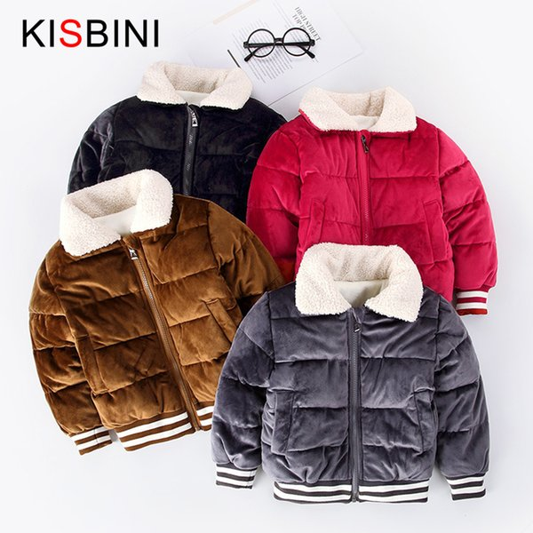 good quality Boys Down Jacket Fashion Gold Velvet Thick Coat for Boy Warm Breathable Children Winter Jacket 2-6 years Korean Style
