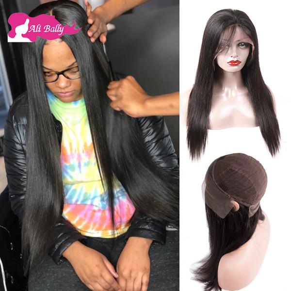 Perruques avant de lacet de cheveux humains de couleur naturelle naturelle Remy perruques de lacet de cheveux humains de Remy dhgate Perruques de cheveux humains 150% Densité