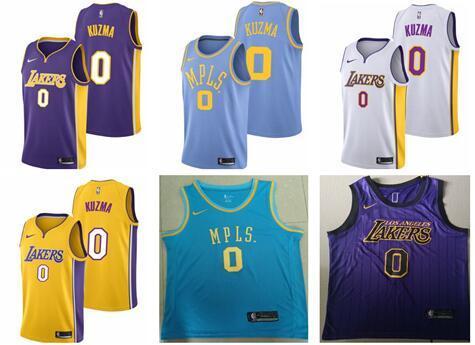 wholesale dealer 19bf1 db11d 2019 2018 2019 New Season Lakers 0 Kyle Kuzma Embroidered Logo Jerseys From  Poloshirtjjj, $17.14 | DHgate.Com
