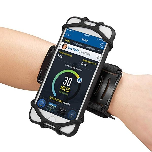 Wristband per iPhone Pro 11 Max X XS MAX Samsung S10 Inoltre girevole mobile supporto per telefono cellulare avambraccio bracciale Staffa per Correre