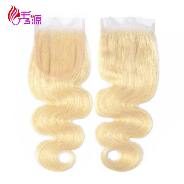Xiuyuanhair Body Wave Virgin Remy Capelli umani 4x4 Frontal pizzo 613 Blonde Brasiliano Body Wave Remy Capelli umani Top Lace chiusura