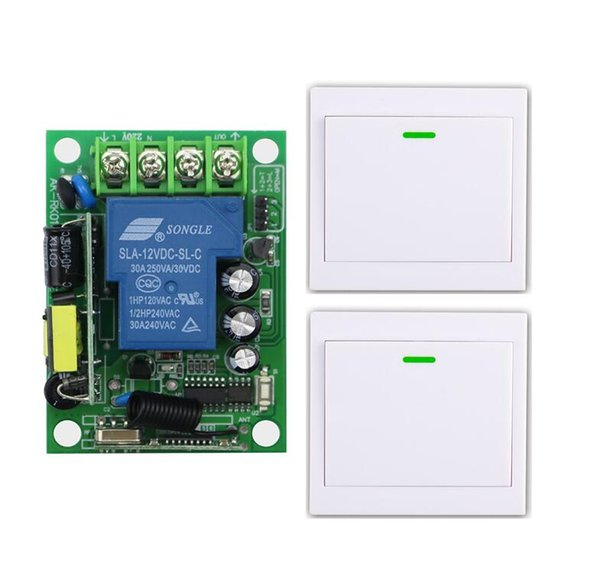 AC 110 V 220 V 240 V rf controle remoto Sem Fio 1000 w interruptor de lâmpada do motor da bomba de água