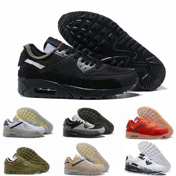2019 высокое качество классический 90 кроссовки черный белый дизайнер женщин кроссовки мужская мода роскошные мужские женщины дизайнер сандалии обувь