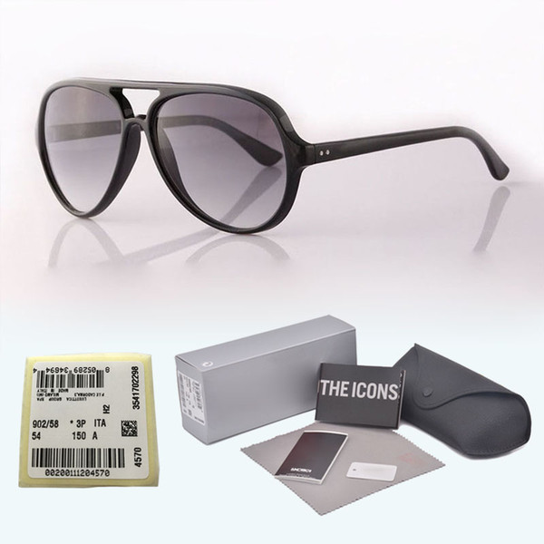New arrival Brand Designer Classic sunglasses Men Women plank frame Metal hinge glass lens Retro Eyewear with free cases and label