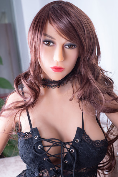 170cm Top quality Japanese smart warming and sounds full silicone sex doll for men lifelike silicone flat breast sex dolls real love doll