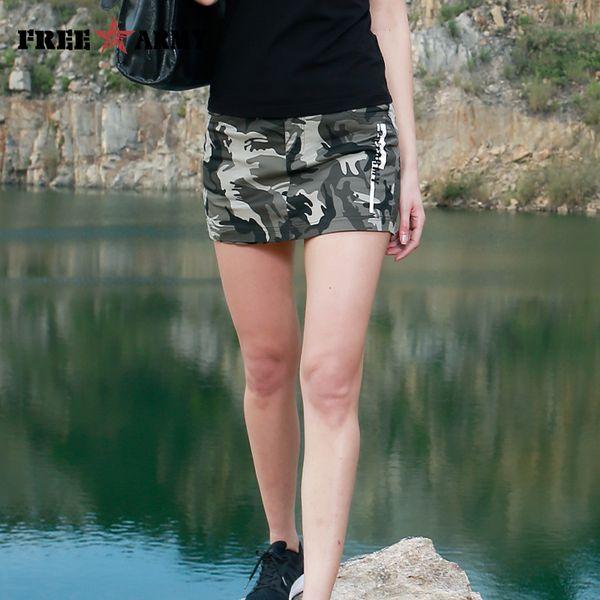Freearmy Casual Women's Shorts Skirts Cotton Skinny Korean Style Denim Jeans Skirt Shorts Female Summer Capri Shorts Camo Lady T4190617
