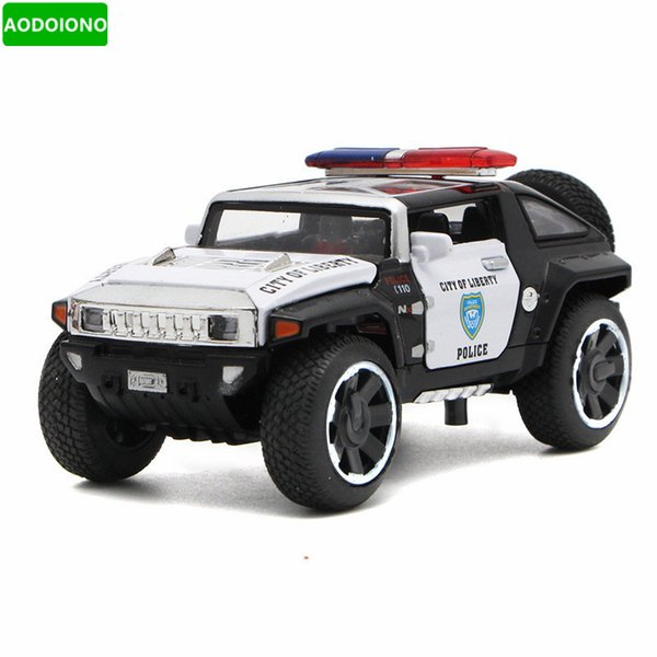 1/32 Scale Diecast Vehicles Car Model Toys W Openable Doors Pull Back Toys Cars with Light Music for Boys Xmas Gift