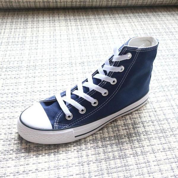 Новое качество Классический Low-Top High-Top холст повседневная обувь Мужская Женская обувь холст Размер EU35-46 в розницу