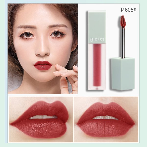 5 Color Liquid Matte Red Lip Gloss Sexy Red Nude Pigment Waterproof Long Lasting Lipstick Tint Texture Lip Tint Cosmetic
