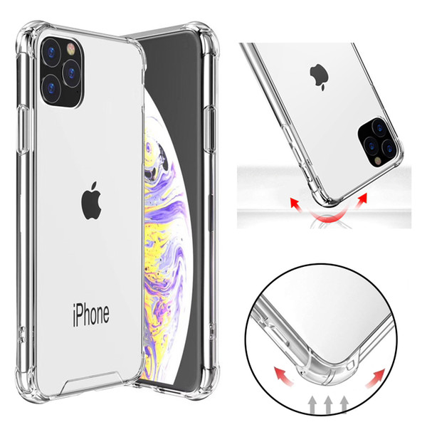 best selling Transparent Shockproof Acrylic Hybrid Armor Hard Back Case Cover for iPhone 11 Pro Max XR XS MAX 8 7 Plus Samsung S10 Note10