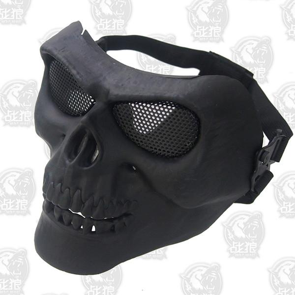 M02 Máscara Do Crânio Fantasma Máscara de Halloween assustador cosplay airsoft máscara de terror máscara de paintball airsoftsports anônimo Carnaval Traje