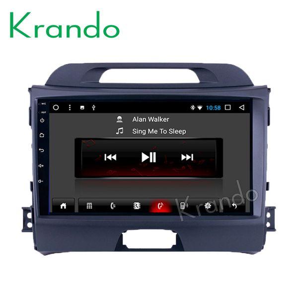 "Krando Android 8.1 9"" IPS Big Screen Full touch car Multimedia player for Kia Sportage 2008-2014 radio navigation system gps BT car dvd"