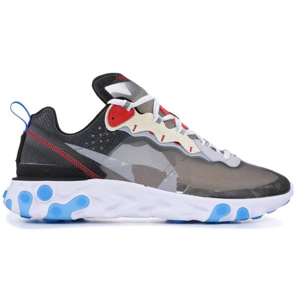 2019 pas cher React Element 87 Undercover Chaussures de course Voile Light Bone Blue Chill Solar Anthracite Noir Designer Sports Sneakers Taille 36-45