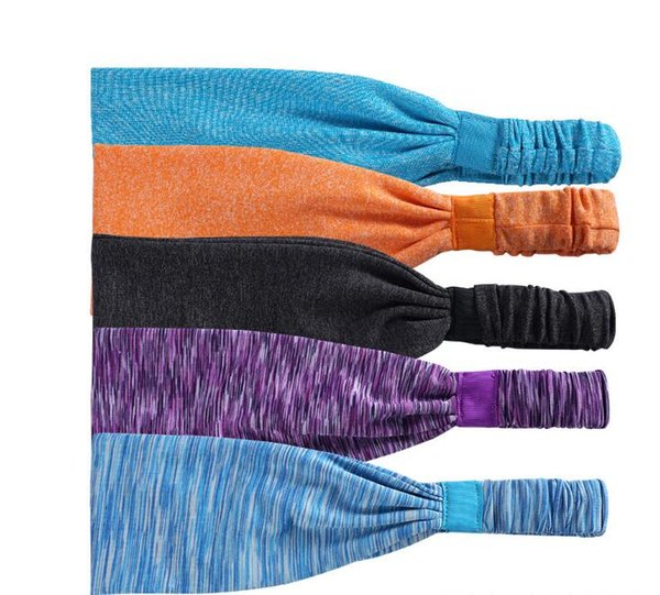 Retail 15 Colors Sports Yoga Hair Bands Quick Drying Elastic Headbands Hair Accessories Head Wear Free Shipping