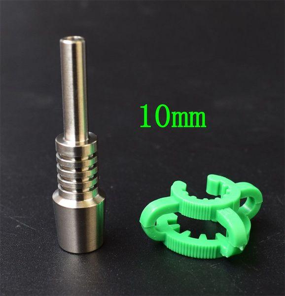 Embout en titane de 10mm + clip de 10mm
