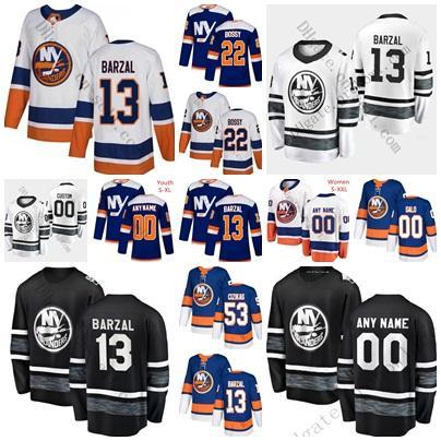 2019 All Star Game 66 Josh Ho-Sang NY Islanders 13 Mathew Barzal Anders Lee Tavares Casey Cizikas Anthony Beauvillier Third Hockey Jerseys
