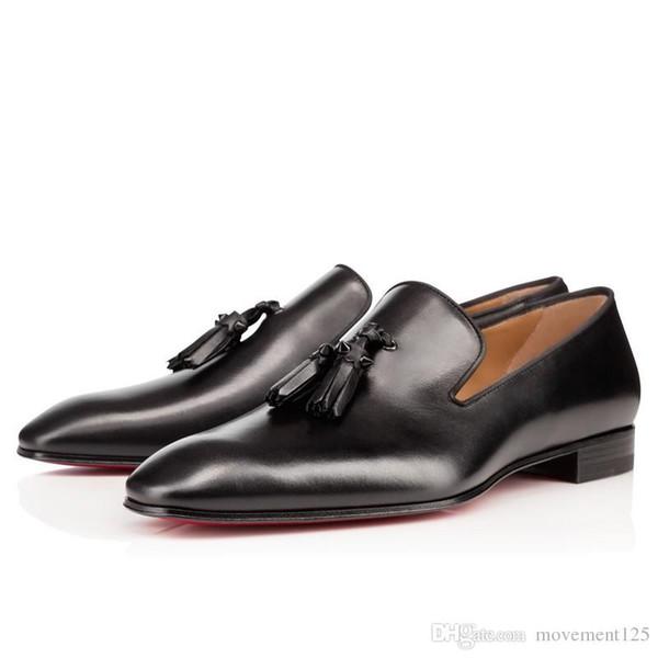 [Original] Gentleman boîte Bussiness Tassilo Flat Sneaker Femmes Hommes Rouge Bas Mocassins Spikes de luxe décontracté robe de soirée de mariage Loisirs