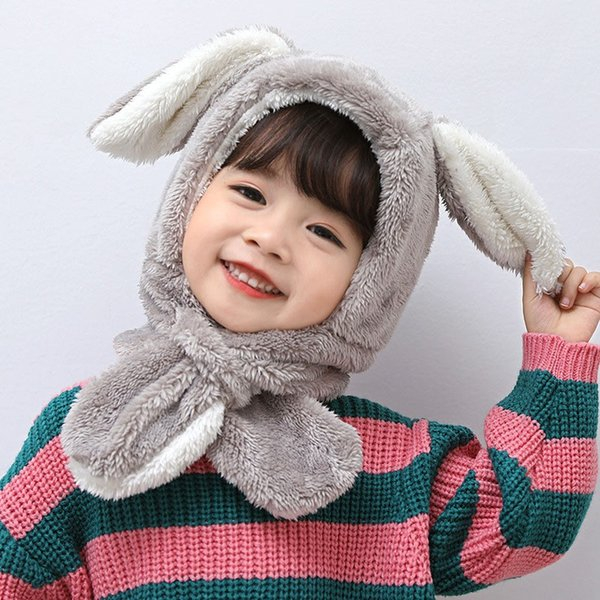 Winter Warm Hat Toddler Baby Boys Girls Rabbit Ear Infant Ski Caps Kids Scarf Ear Warmer Hats