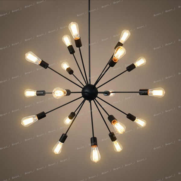 New Sputnik Atomic Starburst Light Lamp Chandelier Mid Century Modern Eames Pendant Lamp Suspension Vintage Lighting 12 18 Heads Pendant Kitchen