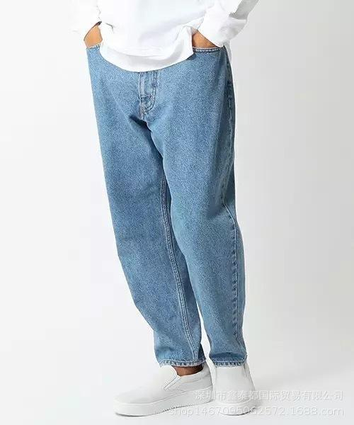 Dear2019 Easy Kanye Jeans Men And Women Hip-hop Directly Canister Skate Dad Pants Trend Street All-match Dance