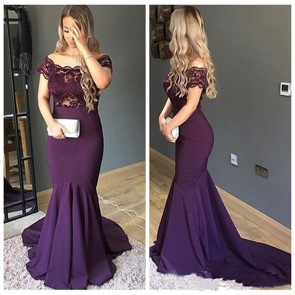 2020 Beautiful Mermaid Prom Dresses Lace Top Custom Formal Vestidos De Soiree Slim Top Sale Evening Party Gowns Special Occasion Party Wear