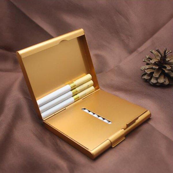 20pcs Side And Bottom Open Cigarette Case Cigarettes Packing Aluminum Cigarette Case Tobacco Holder Box For Men Woman