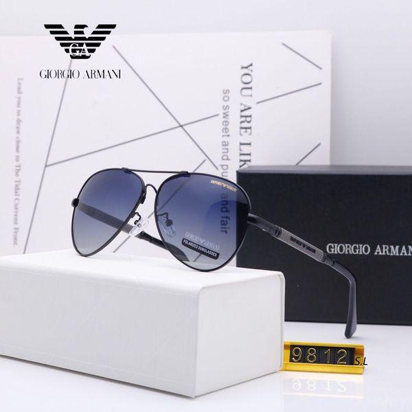 9812 Luxury Sunglasses For Men Brand Fashion Designer Sun Glass Pilot Frame Coating Mirror Lens Carbon Fiber Legs Summer Style Eyewear