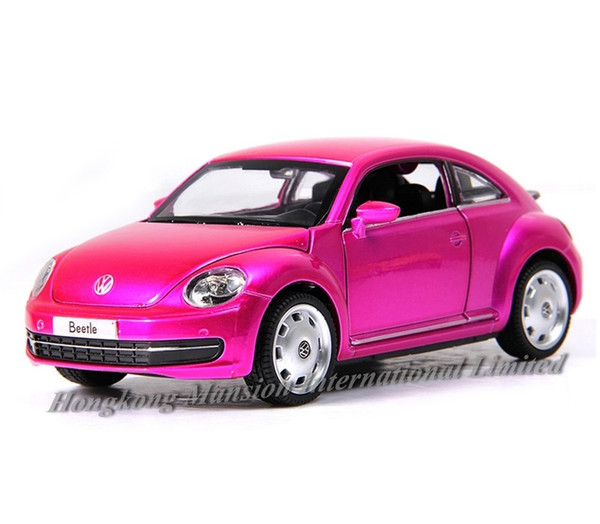 1:32 Scale Luxury Diecast Alloy Metal Car Model For TheVolks wagen Beetle Collection Licensed Vehicle Model Pull Back Toys Car