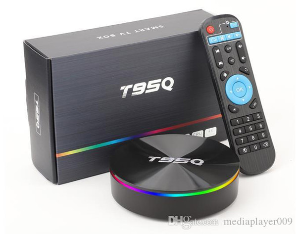 T95Q 4GB 64GB Android 9.0 TV BOX 4K Media Player DDR3 Amlogic S905X2 Quad Core 2.4G5GHz двойной Wi-Fi Bluetooth телеприставку