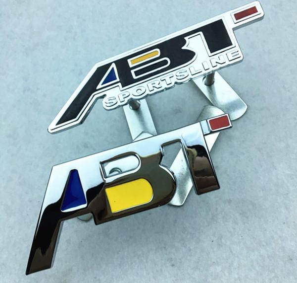 Moda 3D ABT Emblema para VW Polo Passat Jetta b6 Touran Touareg Bora Volkswagen Golf 5 6 Car Styling Grille Pegatina Etiqueta delantera Auto insignia
