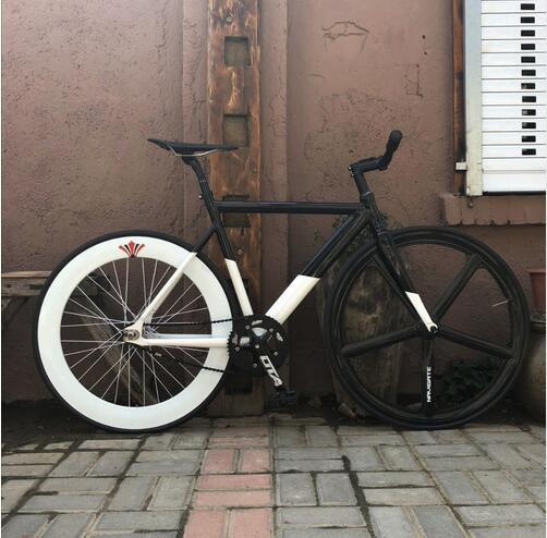 Fixed gear bicycle 54cm 58cm Single speed frame, bike frame aluminum alloy bicycle track 700C color wheel DIY