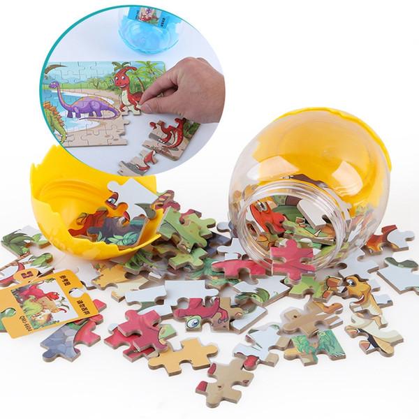 Puzzle de dinosaure Puzzle en bois oeuf de dinosaure Jeu de jouets en bois cadeau de puzzle bébé jouets éducatifs Party Favor GGA1678