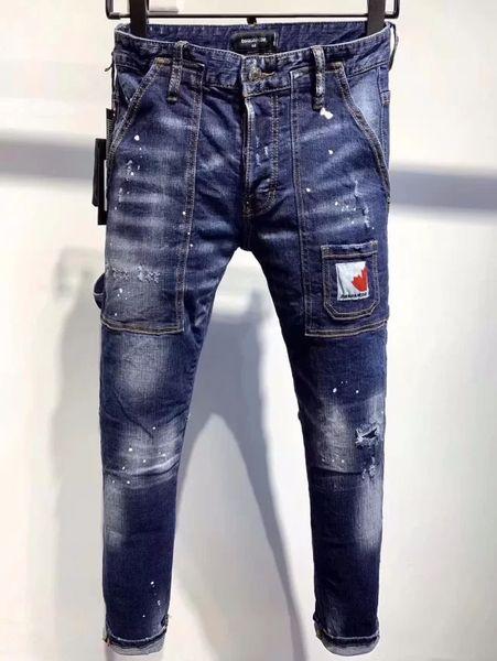Italienisch Trend Jugend Herren-Jeans-Männer nehmen waschHerrenMode High-End-Persönlichkeit Jeans hohe Qualität A9636