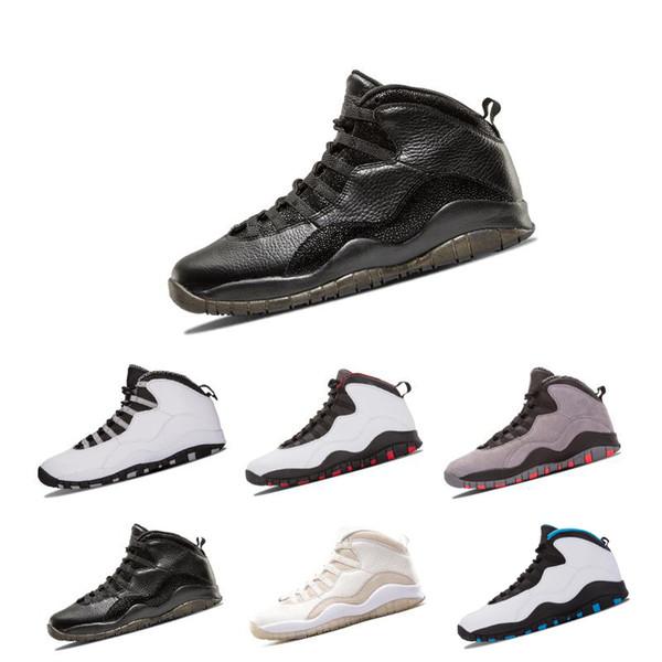 I nuovi 10 10 sono tornato Bianco Nero Cool Grigio Bobcats Chicago Steel Grey Uomo Scarpe da Basket 10 Sneakers taglia eur 41-47