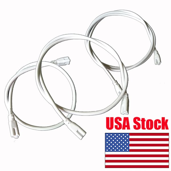 best selling T5 T8 LED Lamp connecting wire LED integrated tube cable linkable cords for Holder Socket Fittings 0.3M 0.6M 1M (39 inches)