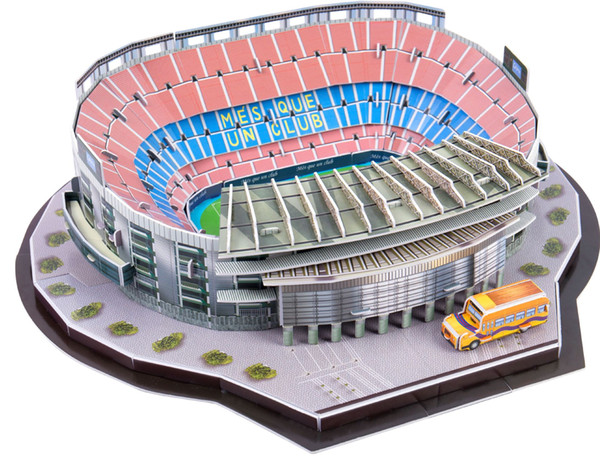 top popular Hot 3D 3D puzzle football field Children's puzzle DIY spell insert toy wholesale 2020