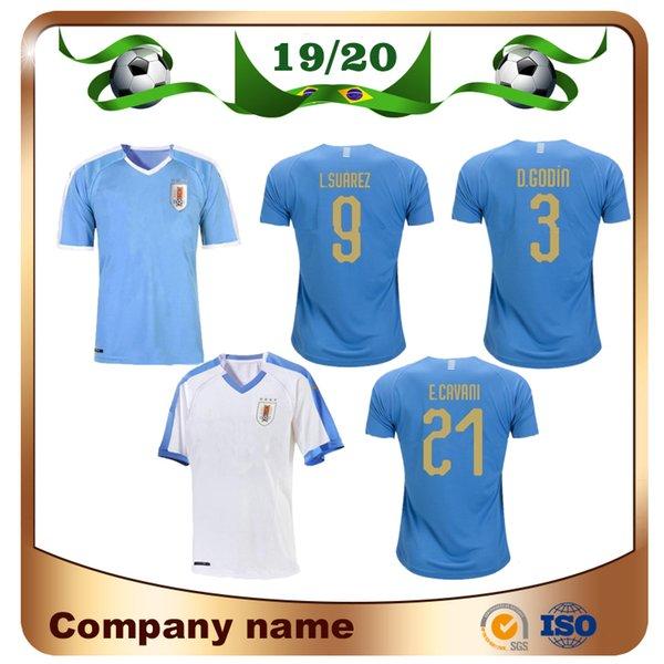 2019 Copa America Uruguay Soccer Jersey 19/20 Home 9 L.suarez 21 E.cavani Soccer Shirt # 3 D.GODIN Addio Squadre nazionali di Calcio Uniformi