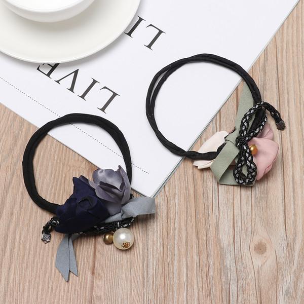 1 PC DIY Cheveux Style Outil de Prise Pour Les Femmes Fleur Donut Bun Maker Grandes Perles Ruban Cheveux Fold Wrap Mode Bigoudi Accessoires