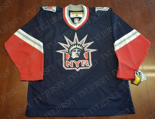 Cheap custom New York Rangers Vintage Koho Third Jersey Lady Liberty NEW Stitched Retro Hockey Jersey Customize any name number XS-5XL