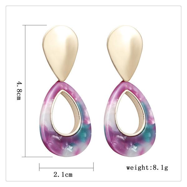 2019 New Desigh boucles d'oreilles fille tout correspondant goutte d'eau boucles d'oreilles ovales style long rétro boucles d'oreilles bijoux de mode