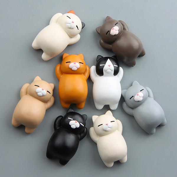 Funny Cartoon Animals Cat Fridge Magnet Sticker Refrigerator Gift Home Decor Funny Girls Boys Kids Toys Fridge Magnets #O