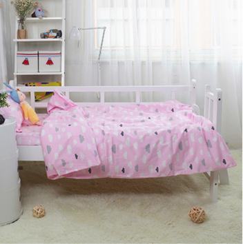 without filling! 3PCS Cartoon baby crib bedding set for girls,high quality infant cot set ,Duvet Cover/Sheet/Pillow Cover,