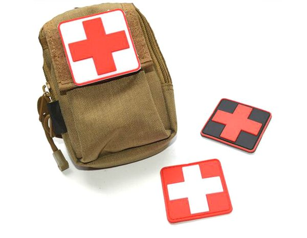 VP-45 3D Gomma PVC Red Cross Patch Medic Paramedico Tattico patch Tactical Forest Morale Patch per Abbigliamento cap