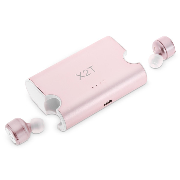 Original X2T Wireless Earphones Bluetooth Headsets Mini Double Earbuds Hands-free with Charger Box V4.2 Stereo for iPhone Android