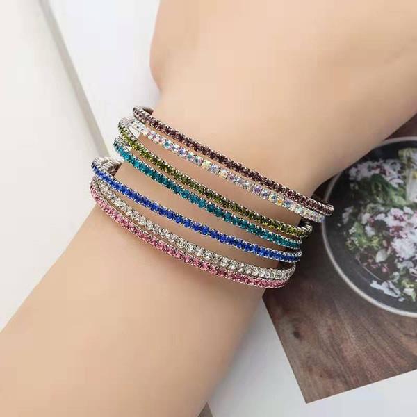 gefroren Ketten Armbänder Luxus Designer Frauen Tennis Kette Armband bunte Bling Diamant Hochzeit Engagement Armbänder Schmuck Geschenke