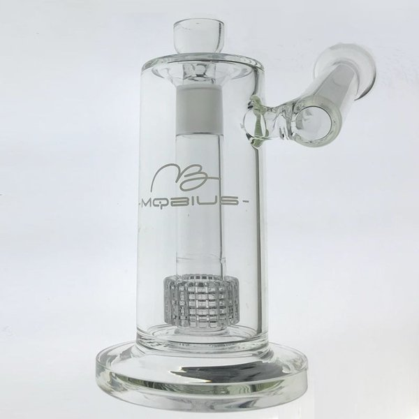 Thick Glass Dab Rig 22.5cm Tall Matrix sidecar bong birdcage perc Oil Rig thick smoking water pipe Joint size18.8mm