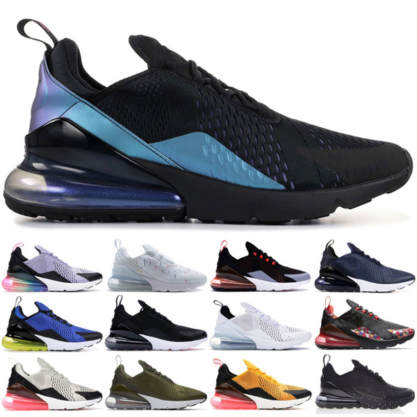 Nike Air Max 270 Be True Throwback Future Black White Men Women Running Shoes French Splashing ink Fashion Designer Men Womens Sneakers 36-45